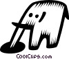 Vector Clip Art graphic  of a elephants