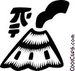 Vector Clip Art graphic  of a Mt.. Fuji