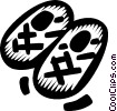 Vector Clip Art graphic  of a slippers