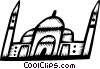 Vector Clip Art graphic  of a Buildings in India