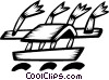 Fishing Boats Vector Clipart image