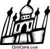 Vector Clipart picture  of a Buildings in India