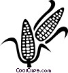 corn on the cob Vector Clip Art image