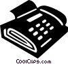 Vector Clip Art graphic  of a fax/phone