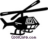 Vector Clipart graphic  of a helicopter