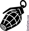 Vector Clipart picture  of a hand grenade