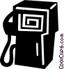 gas pump Vector Clipart graphic