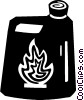 Vector Clip Art graphic  of a flammable liquid