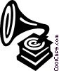 Vector Clipart picture  of a phonograph