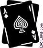 Vector Clipart graphic  of an ace of spades