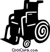 Vector Clipart picture  of a wheelchair