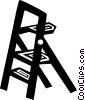 Vector Clipart illustration  of a step ladder