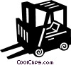 Vector Clip Art graphic  of a forklift