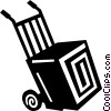 Vector Clipart graphic  of a dolly and box