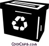 recycle box Vector Clipart image