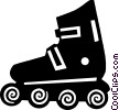 roller blades Vector Clipart image