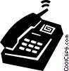 Vector Clipart illustration  of a office phone