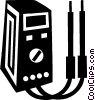Vector Clipart graphic  of a electronic tester