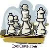 Vector Clip Art graphic  of a chess pieces