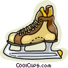 Vector Clip Art image  of a ice skate