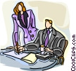 Vector Clipart graphic  of a business people having a