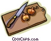 Vector Clipart illustration  of a cutting board