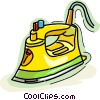 Vector Clip Art image  of a electric iron