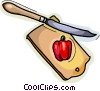Vector Clip Art graphic  of a cutting board