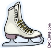 Vector Clipart graphic  of a Figure skates