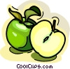 Sliced apple Vector Clip Art graphic