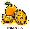 Vector Clip Art graphic  of a Sliced oranges
