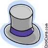 top hat Vector Clipart illustration
