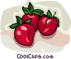 Vector Clip Art graphic  of a Whole strawberries
