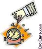 Vector Clip Art graphic  of a clock repair