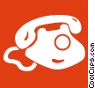 telephones Vector Clip Art graphic