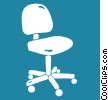 Vector Clipart picture  of a office chair