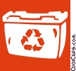 Vector Clip Art picture  of a recycle bin