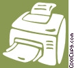 Vector Clip Art picture  of a computer printers