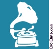 Vector Clip Art graphic  of a phonograph