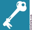 skeleton key Vector Clipart illustration
