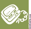 pager/beeper Vector Clipart graphic