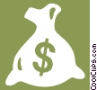 bag of money Vector Clip Art graphic