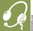 telephone head set Vector Clip Art picture