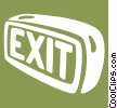 exit signs Vector Clipart picture