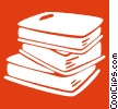 stack of books Vector Clip Art image