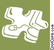 Vector Clip Art image  of a puzzle piece