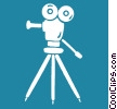 Vector Clip Art picture  of a motion picture camera