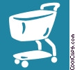 grocery carts Vector Clip Art picture