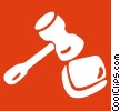 Vector Clipart illustration  of a gavel
