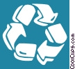 recycle symbol Vector Clipart graphic